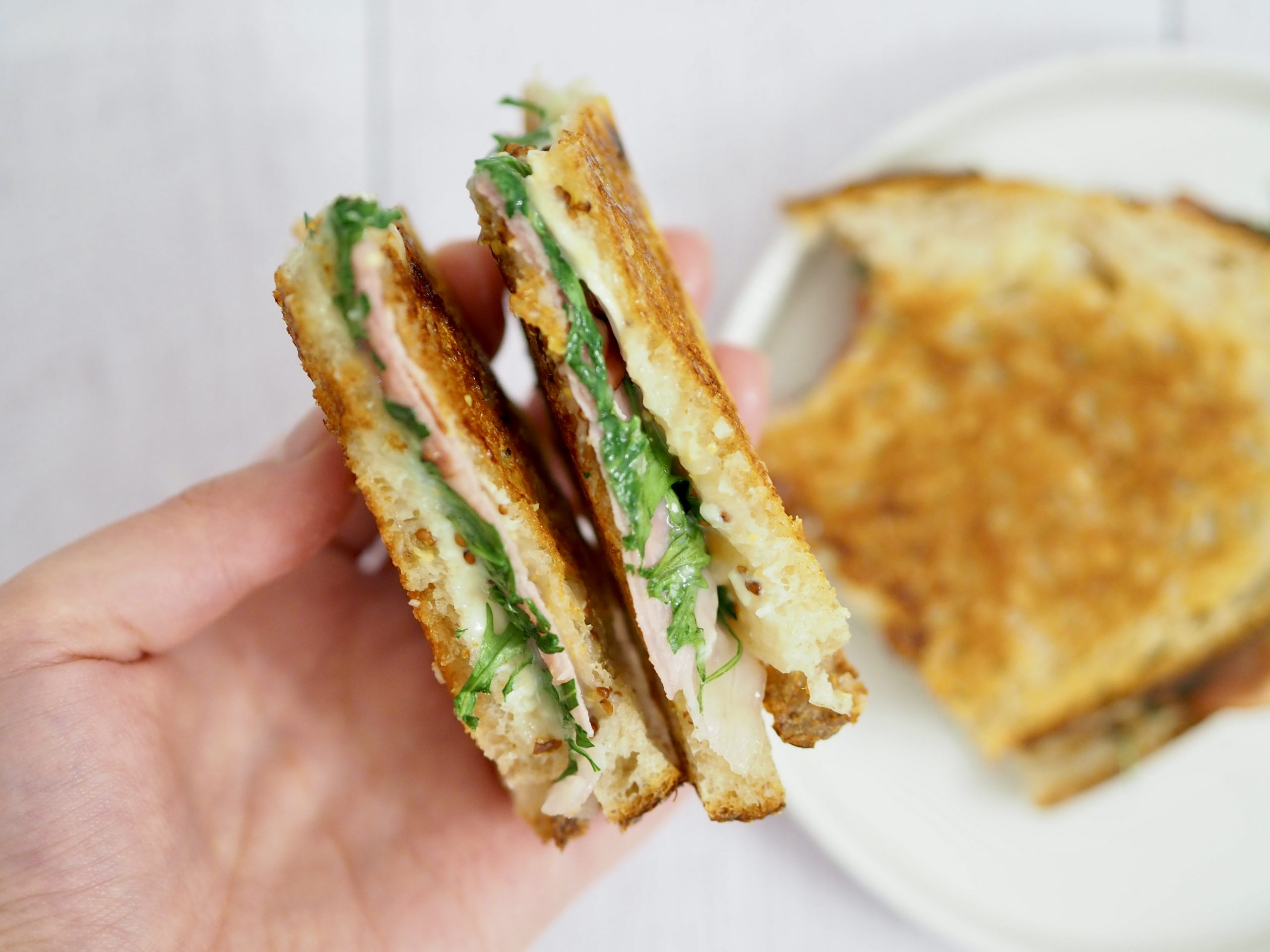 Grilled cheese jambon fumé et brie